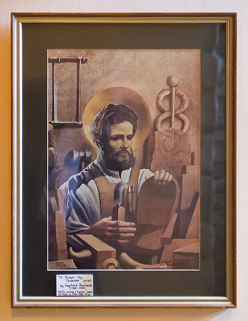 Saint Joseph Roman Catholic Church, in Clayton, Missouri, USA - print of Saint Joseph by Siegfried Reinhardt