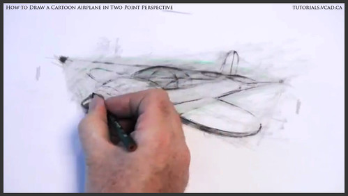 learn how to draw a cartoon airplane in two point perspective 031