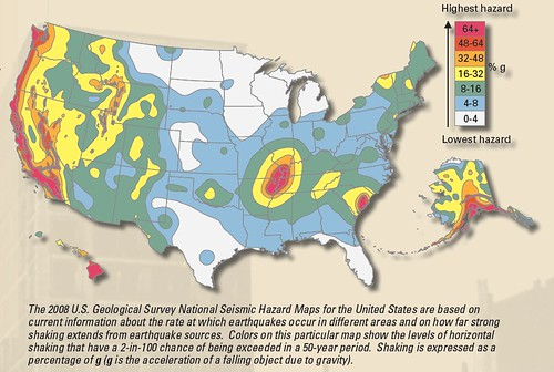 Image shows a map of the US with hazard zones picked out in yellow and red. There's a bullseye just right of Texas. It hits corners of Indiana, Kentucky, Tennessee, Mississippi, Arkansas, Missouri, and Illinois.