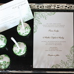 Green Vine Cake Pops and Matching Wedding Suite