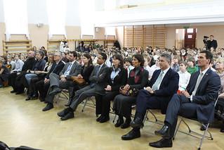 Celebración del 21 de marzo en la Escuela Benito Juárez de Varsovia.
