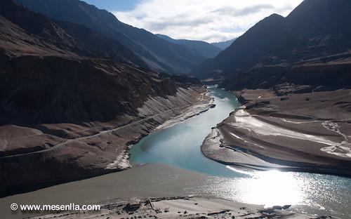 Cruce de los rios Indu y Zanskar