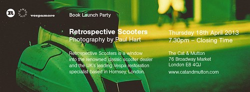 Retrospective Scooters - book launch by vespamore photography