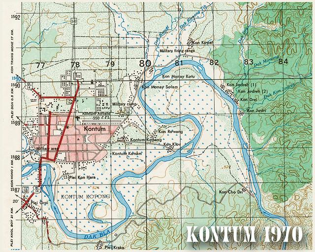 Bản đồ KONTUM 1970 - Sheet 6637-4