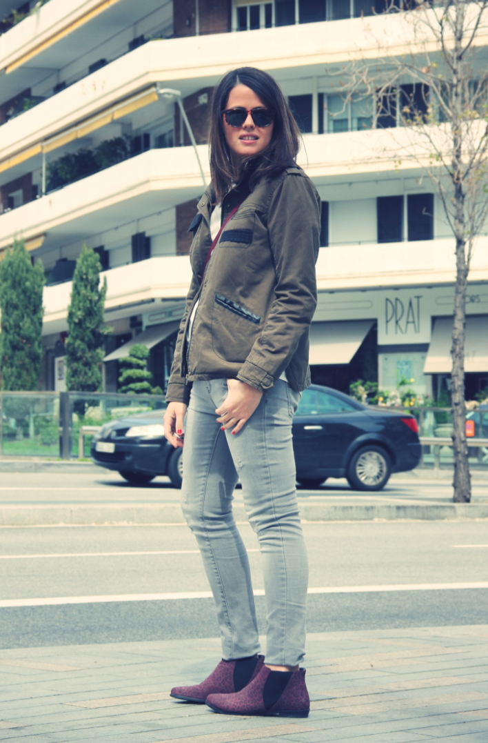 Look Grey + Green Parka - monicositas