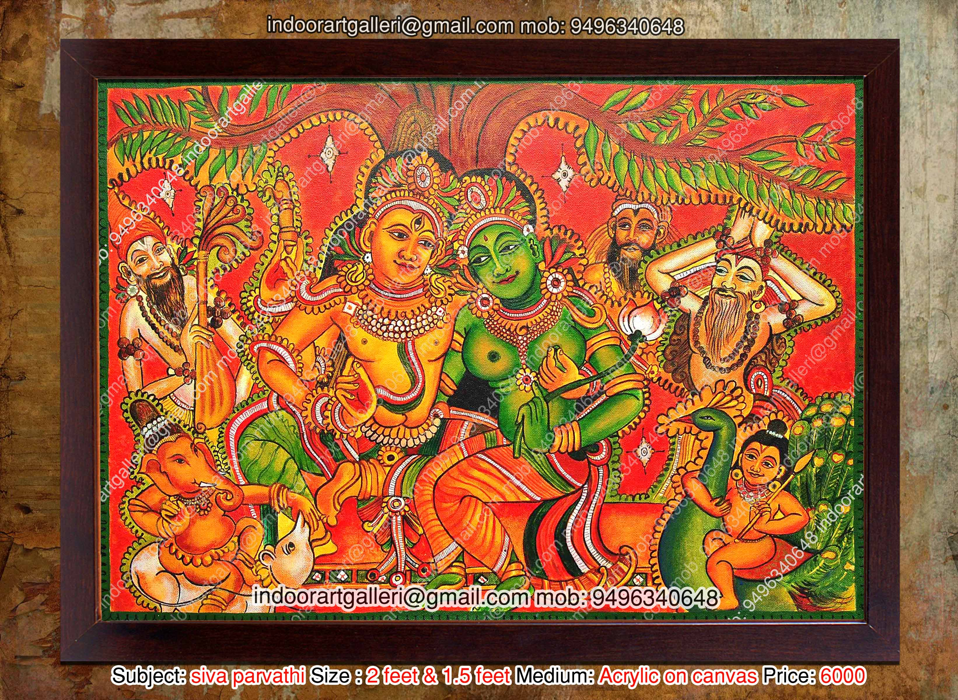 Siva parvathi mural painting flickr photo sharing for Buy kerala mural paintings online