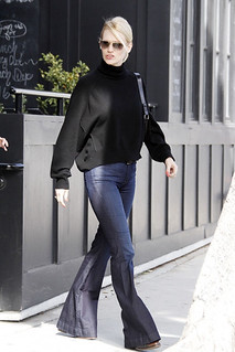 January Jones Flared Jeans Celebrity Style Women's Fashion