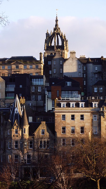 Edinburgh skyline, spring sunset 09