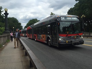 Busses stuck on 16th St | by Joe in DC