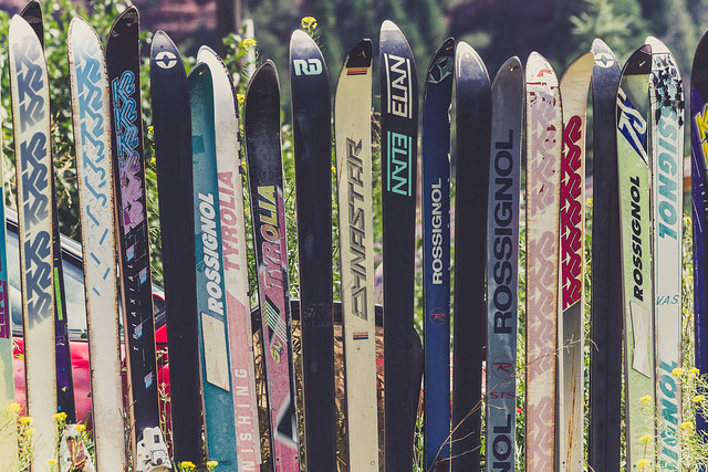 Photo:Fence made of skis - Placerville, Colorado By Tony Webster