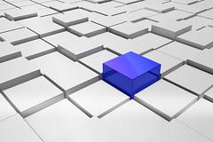 Grafik - Blauer Wuerfel - Business Grafik