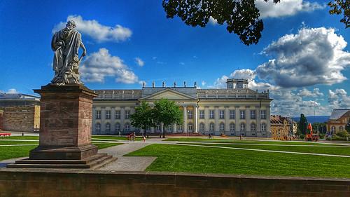 monument summer clouds kassel fridericianum friedrichsplatz