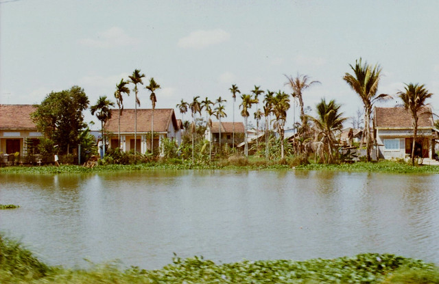 Homes along the Saigon River - Photo by bcopley 1971-72