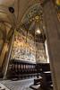 Loreto,Italy - August 12, 2016: Interior of the Shrine of Loreto, Santuario della Madonna.
