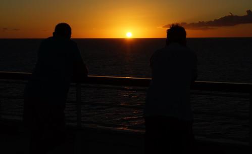 cruise people sun holiday black colour silhouette yellow set golden evening ship sony caribbean alpha a77 carrabean