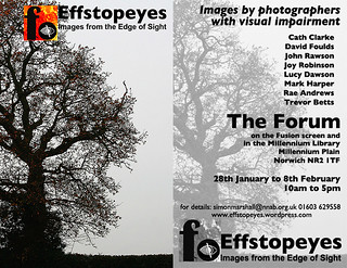 "Effstopeyes: ""Images from the Edge of Sight"" Exhibition Flyer"