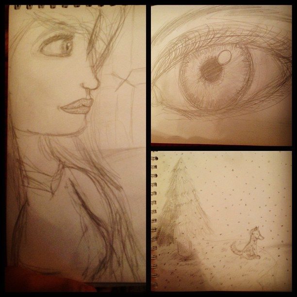 my baby girl's #drawing - #her artsy side ❤❤❤ - really #cool and #cute #arts #pencil #sketching #eyes #face #animals #landscape #portrait #portraiture #instago #instagood #instaamazing #instapic #instadaily #instagramhub #tweegram #all_shots #picoftheday