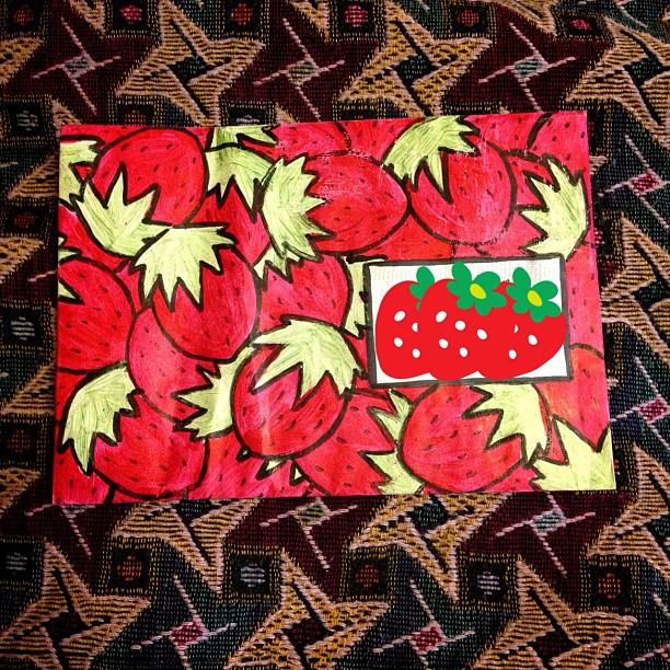 #snailmail #envelope #strawberries #polish