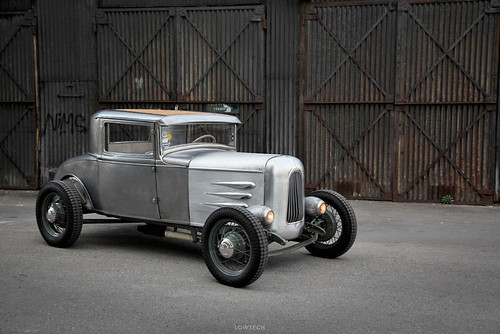 bare metal hot rod by REVOLVER Imaging Co.
