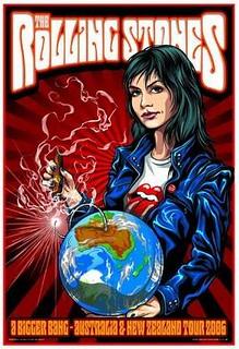 Rolling Stones 2006 OZ-NZ Bigger Bang Tour Poster