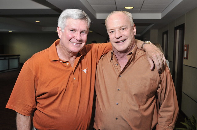 Mack Brown and a supporter