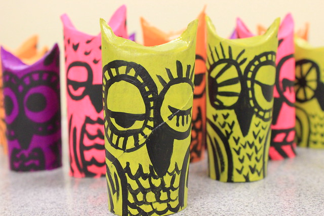 Paper Tube Owls 3
