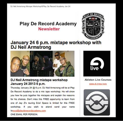 Play De Record Academy Mixtape class...