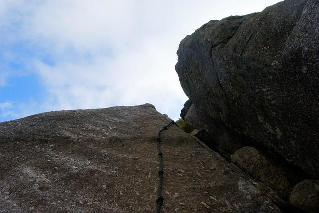 モッチョム岳への最後の登り