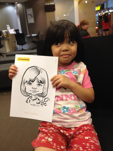 caricature live sketching for Maybank Roadshow - 13