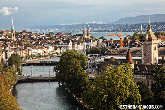 View of Zurich Switzerland and River Limmat | Travel Photography