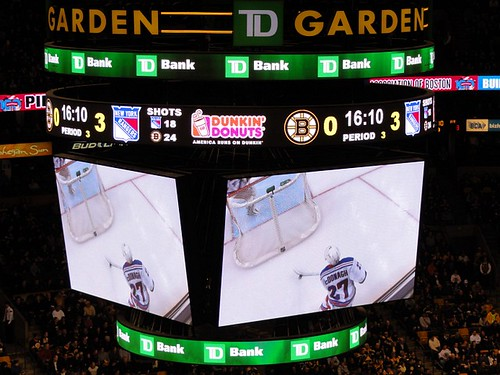 Rangers @ Bruins TD Garden Big Screen