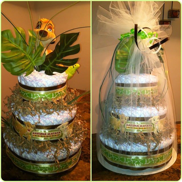 lion king themed diaper cake flickr photo sharing