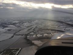Vol hivernal autour de Lauzerte