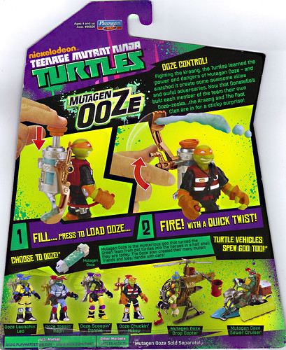 "Nickelodeon ""MUTAGEN OOZE"" TEENAGE MUTANT NINJA TURTLES ::  ..card backer (( 2013 ))"