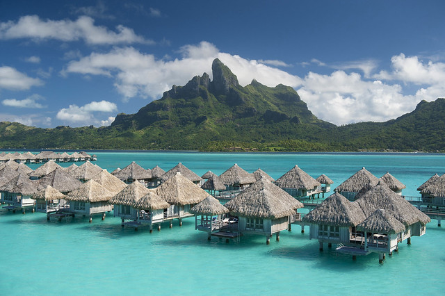The St. Regis Bora Bora Resort—Exterior - facing Mt Otemanu