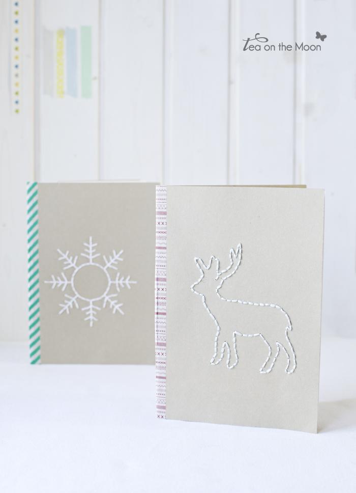 Libreta de navidad bordada