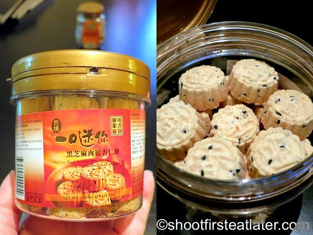 Choi Heong Yuen Bakery Macau- one bite black sesame almond cookies