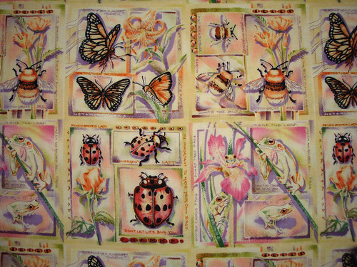 Garden insects fabric