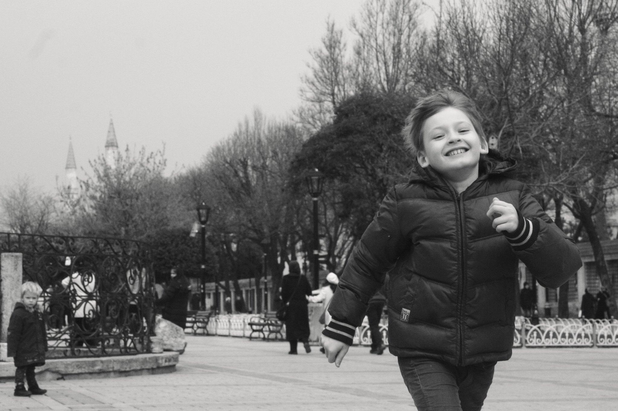 Matti running down the Hippodrome