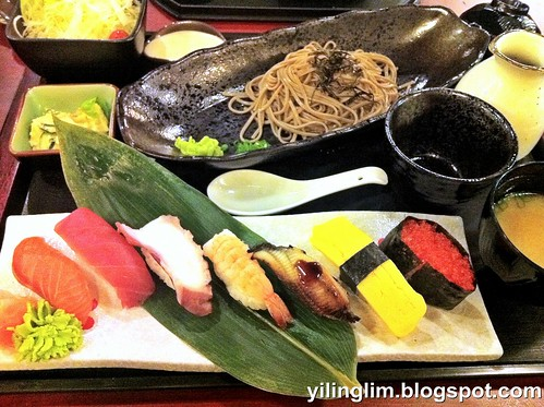 Nigiri and zaru soba set