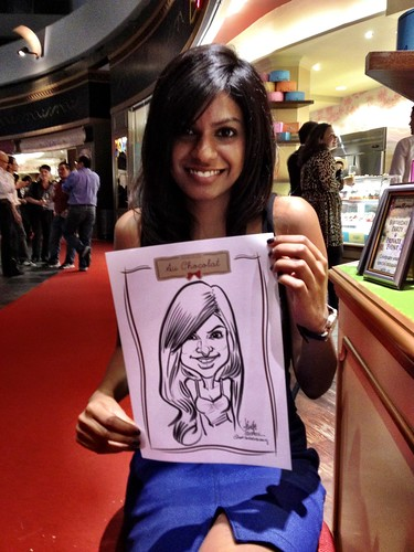 caricature live sketching for Au Chocolat Opening - 12