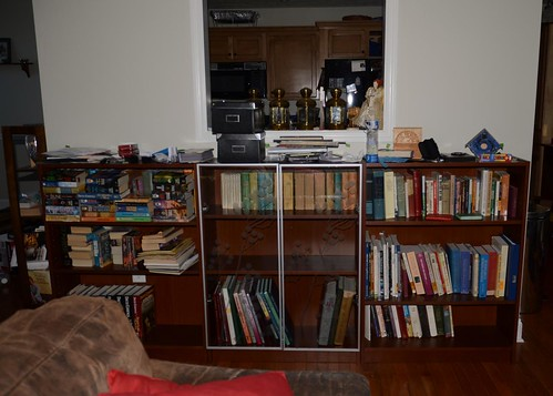 the new bookshelves