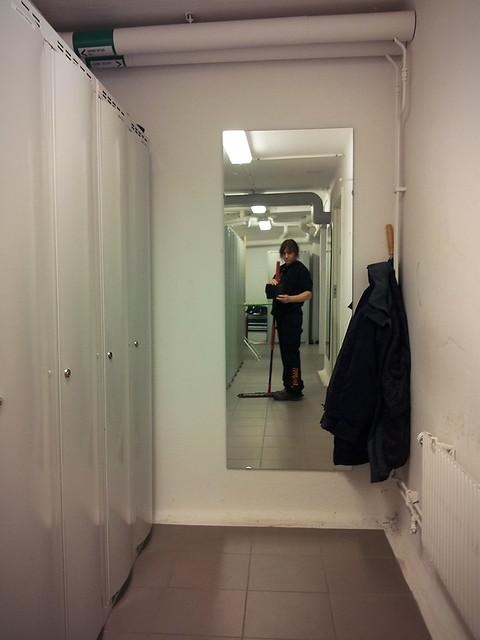 42) At work.