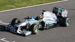 Lewis Hamilton Mercedes W04 F1 Jerez 2013