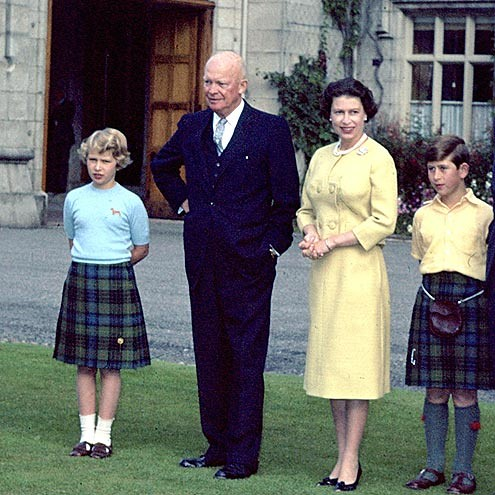 1959 The family with Dwight Eisenhower at Balmoral in 1959