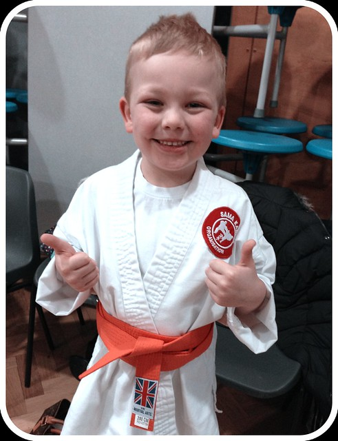 Proud Mama Moment - Orange belt success!
