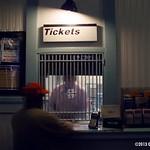 Metro-North ticket window at Mamaroneck, NY, 2007