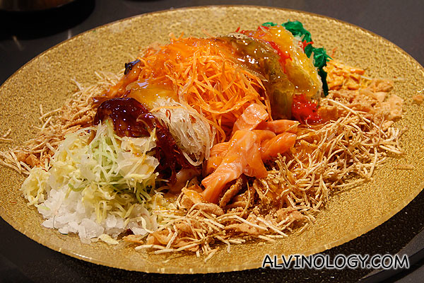 The Yu Sheng is ready for tossing