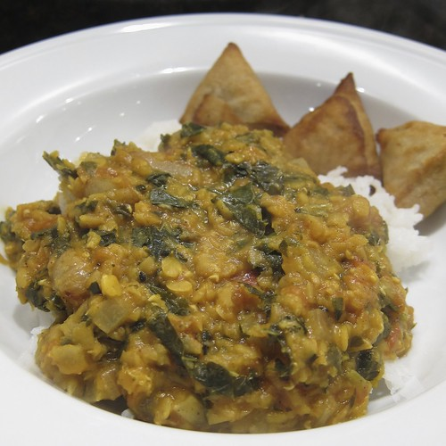 Dal with Kale