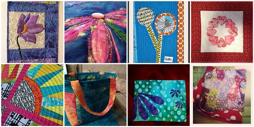 8 quilted creations made for the 'Annie's Vision' Project QUILTING Challenge